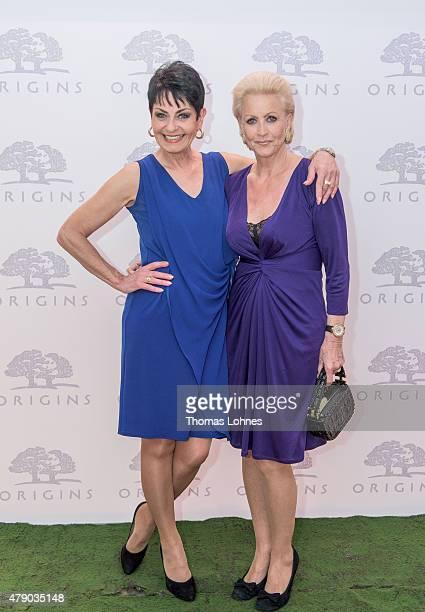 Sibylle Nicolai and Marika Kilius attend the Origins flagship counter opening at Douglas on June 29 2015 in Frankfurt am Main Germany