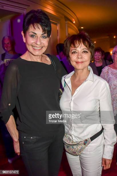 Sibylle Nicolai and Simone RethelHeesters during the 'DANKE' Farewell Party at Theater am Kurfuerstendamm on May 26 2018 in Berlin Germany