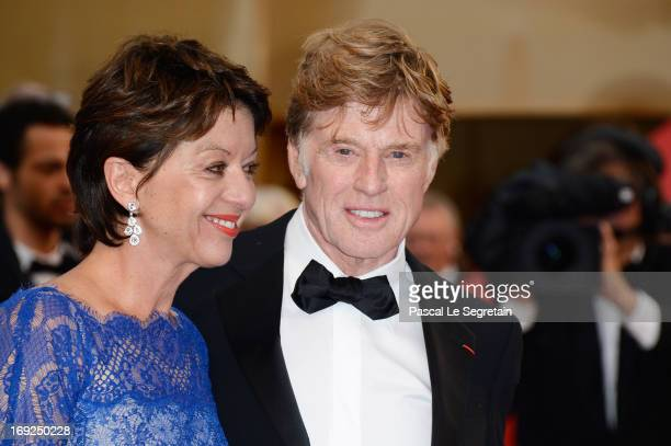 Sibylle Szaggars and actor Robert Redford attends the 'All Is Lost' Premiere during the 66th Annual Cannes Film Festival at Palais des Festivals on...