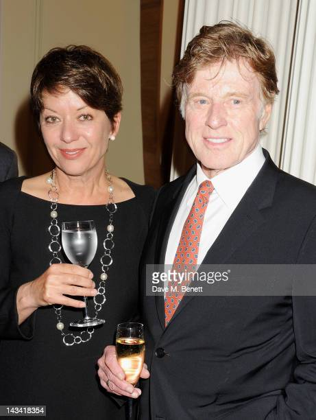 Sibylle Szaggars and Robert Redford attend as Robert Redford launches the inaugural Sundance London Film and Music Festival at the US Embassy on...