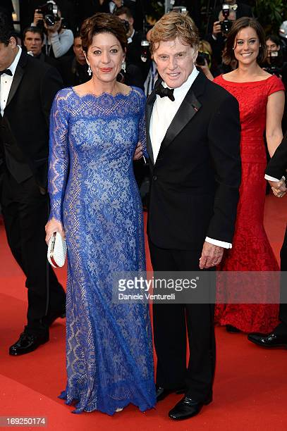 Sibylle Szaggars and Robert Redford attend the Premiere of 'All Is Lost' during The 66th Annual Cannes Film Festival at the Palais des Festivals on...
