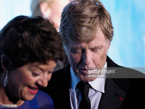 Sibylle Szaggars Redford and Robert Redford attend the Gala for the Global Ocean hosted by HSH Prince Albert II of Monaco at Opera of MonteCarlo on...