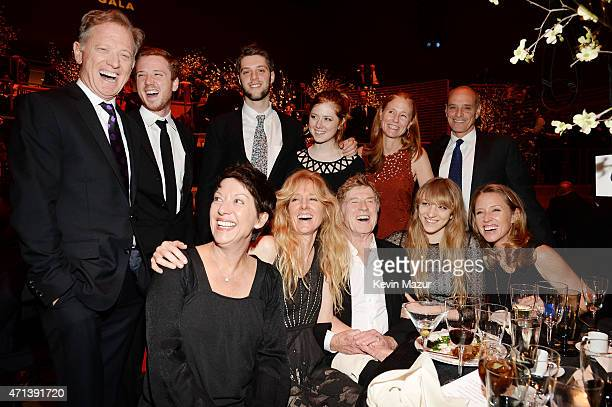 Sibylle Szaggars Robert Redford and family attend the 42nd Chaplin Award Gala at Jazz at Lincoln Center on April 27 2015 in New York City