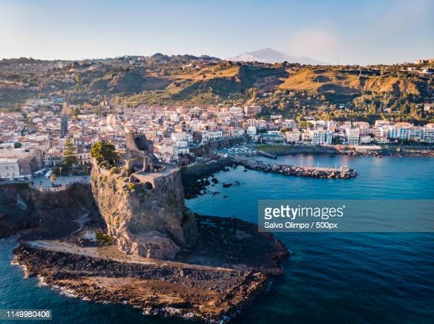 sicily, aci castello - sicily stock pictures, royalty-free photos & images