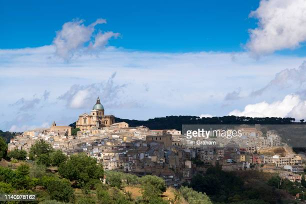 Sicily, Italy. : Ancient hill town of Piazza Armerina, Sicily, Italy..