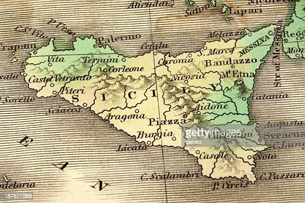 Cartina Mappa Sicilia.Sicilia Cartina Foto E Immagini Stock Getty Images