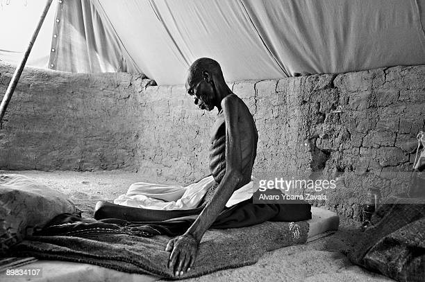 A sick and starving victim in the Iribime refugee camp