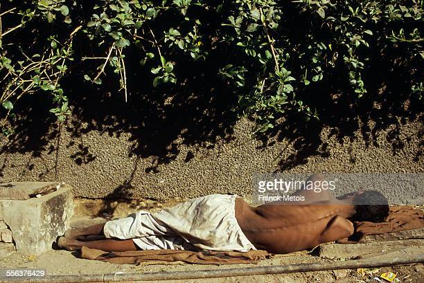 sick man living on the street - malnutrition stock pictures, royalty-free photos & images