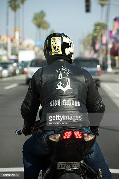 sick riders - biker jacket stock photos and pictures