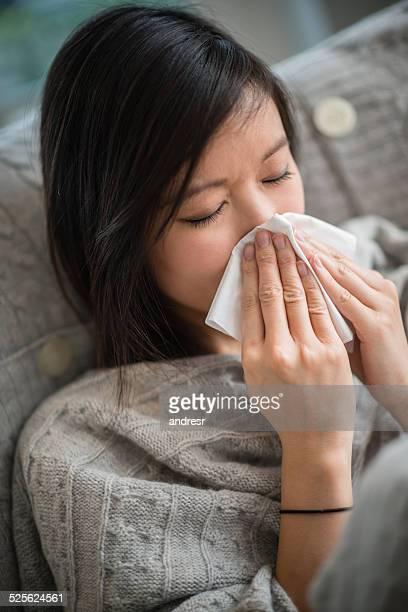 Femme malade