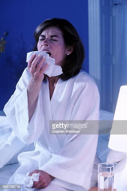 Sick women at night