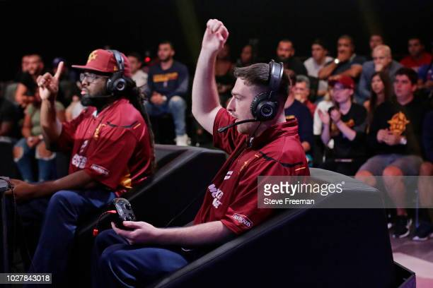 Sick x 973 of Cavs Legion Gaming Club reacts during the game against Knicks Gaming during the Semifinals of the NBA 2K League Playoffs on August 18...