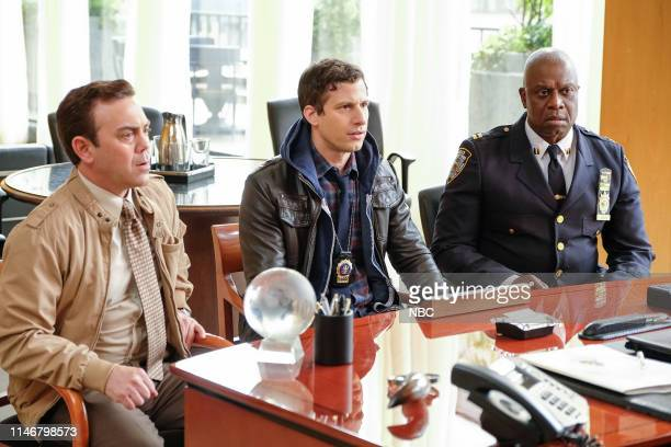 NINE Sicko Episode 617 Pictured Joe Lo Truglio as Charles Boyle Andy Samberg as Jake Peralta Andre Braugher as Captain Ray Holt