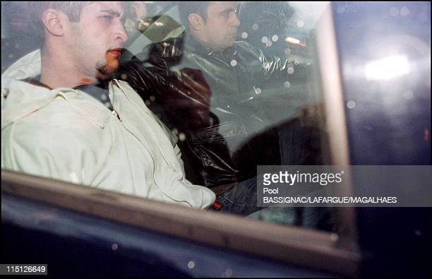 Sid Ahmed Rezala leaves the Lisbon Courthouse to police station in Lisbon Portugal on January 12 2000