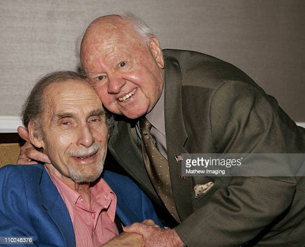 """Sid Caesar and Mickey Rooney during PBS TCA Press Tour 2005 Presents """"The Pioneers of Primetime"""" at The Beverly Hilton in Beverly Hills, California,..."""