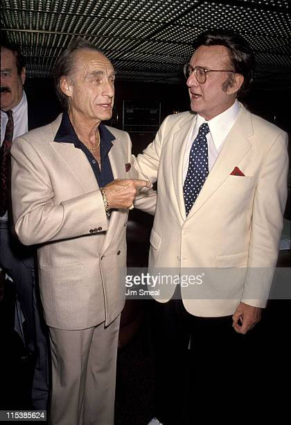 Sid Caesar and Steve Allen during Friars Club Honors Jack Palance at a XRated Roast at Friars Club in Beverly Hills California United States