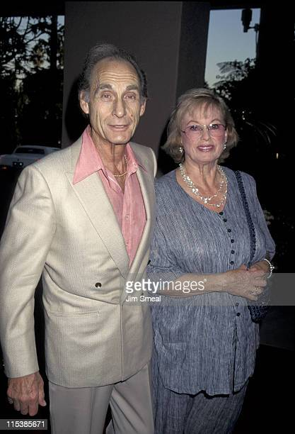 Sid Caesar and wife during ABC Fall 1995 Season Kick Off Cocktail Reception at Beverly Hills Hotel in Beverly Hills CA United States