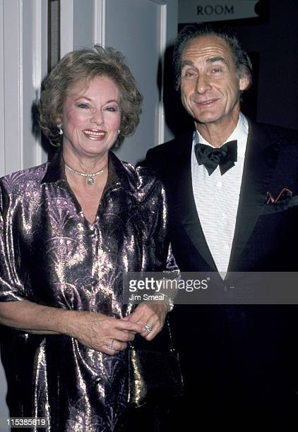 Sid Caesar and wife during St Jude Gala August 30 1986 at Century Plaza Hotel in Century City California United States
