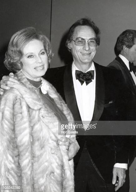 Sid Caesar and wife Florence during Academy of Television Arts Sciences Honors Sid Caeser at Century Plaza Hotel in Century City California United...