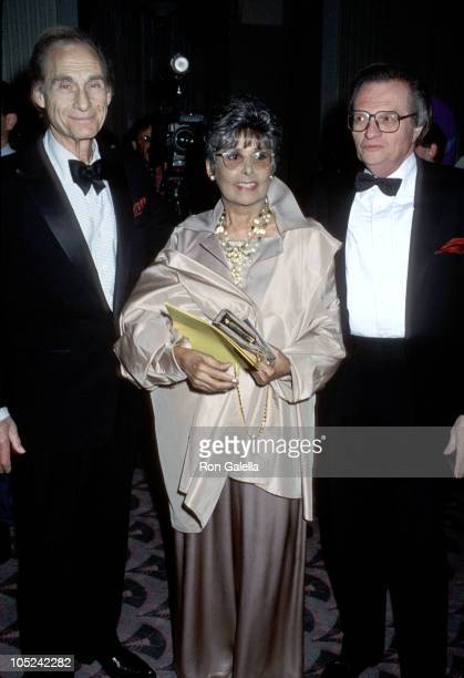 Sid Caesar Lena Horne Larry King during Museum of Television Radio Presents A Celebration of Television Radio at Waldorf Astoria in New York City New...