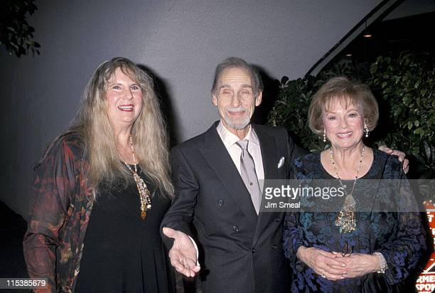 Sid Caesar with his wife and daughter during Sid Caesar Celebrates 50 Years In Television at Friar's Club in Beverly Hills California United States