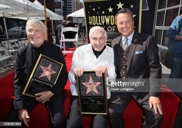 Sid Krofft Marty Krofft and entertainment reporter George Pennacchio attend Sid and Marty Krofft honored with a Star on the Hollywood Walk of Fame on...
