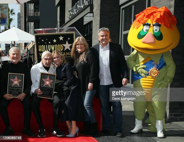 Sid Krofft Marty Krofft Maureen McCormick Susan Olsen and Christopher Knight attend Sid and Marty Krofft honored with a Star on the Hollywood Walk of...