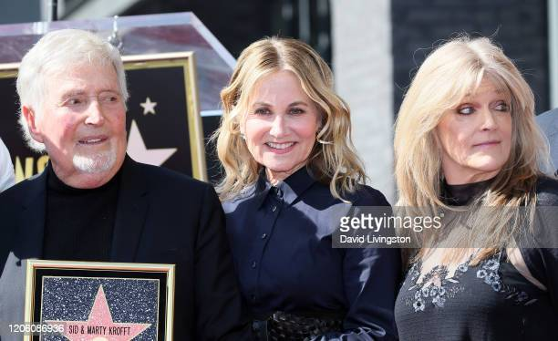Sid Krofft Maureen McCormick and Susan Olsen attend Sid and Marty Krofft honored with a Star on the Hollywood Walk of Fame on February 13 2020 in...