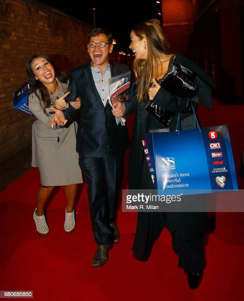 Sid Owen and Elen Rivas depart the 60th Birthday Celebration of Richard Desmond at Old Billingsgate Market on December 8 2011 in London England