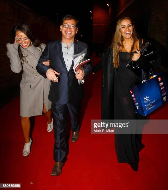 Sid Owen and Elen Rivas depart the 60th Birthday Celebration of Richard Desmond at Old Billingsgate Market on December 8, 2011 in London, England.