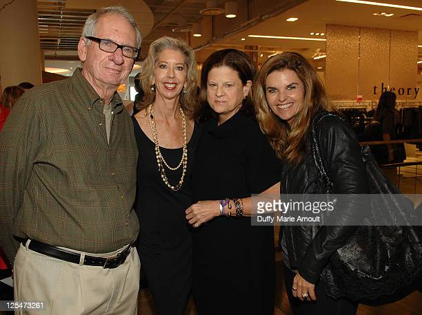 Sid Sheinberg Nancy Lueck Anne Keating and Maria Shriver attend the Think Purple Now Fundraiser with Project 360 and Threads for Thought to benefit...