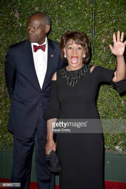 Sid Williams and Maxine Waters attends the 49th NAACP Image Awards Arrivals at Pasadena Civic Auditorium on January 15 2018 in Pasadena California