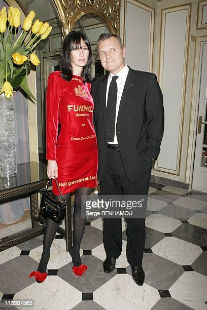 Sidaction Party In Paris On January 25Th 2006 In Paris France Here Mareva Galanter And Jean Charles De Castelbajac