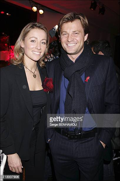 Sidaction Party In Paris On January 25Th 2006 In Paris France Here Anne Sophie Lapix And Laurent Delahousse