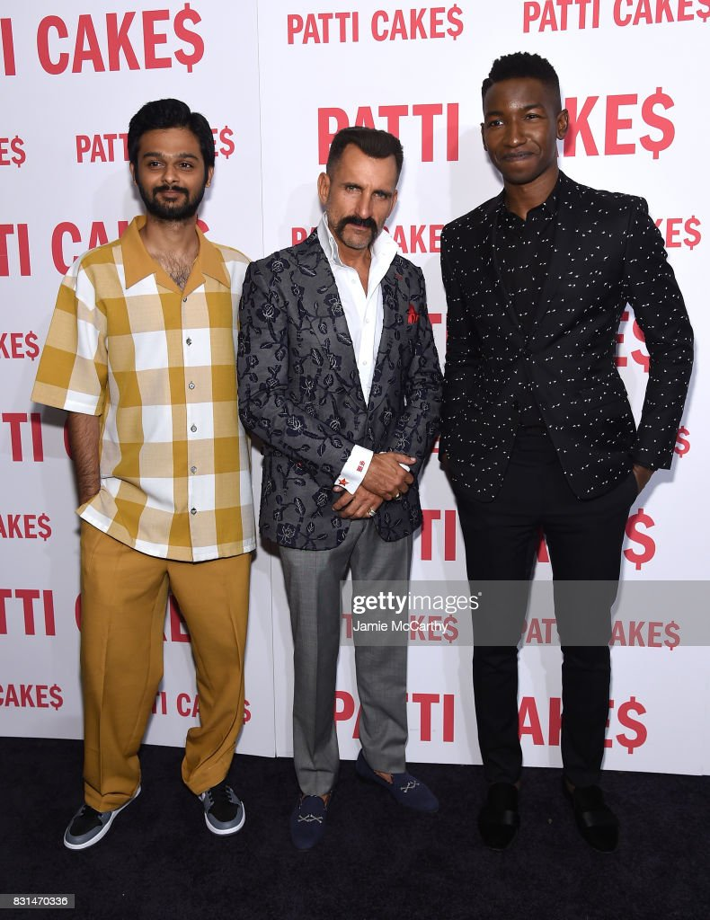 Siddharth Dhananjay, Wass Stevens and Mamoudou Athie attend the 'Patti Cake$' New York Premiere at The Metrograph on August 14, 2017 in New York City.
