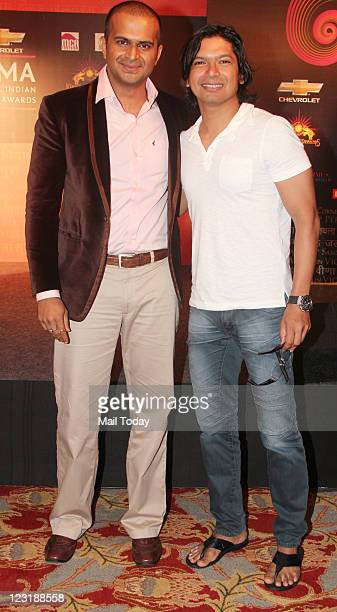 Siddharth Kannan and Shaan at GIMA Awards 2011 voting meet in Mumbai on Tuesday August 30 2011