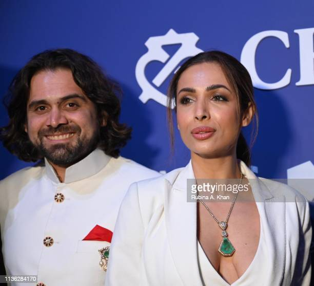 Siddharth Kasliwal and Malaika Arora attend the third edition of Chivas 18 Alchemy 2019 on March 16 2019 in New Delhi India