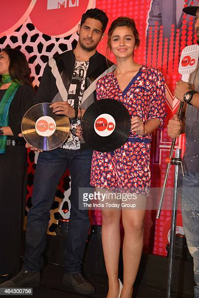 Siddharth Malhotra and Alia Bhatt at the launch of the latest season of MTV Coke studio