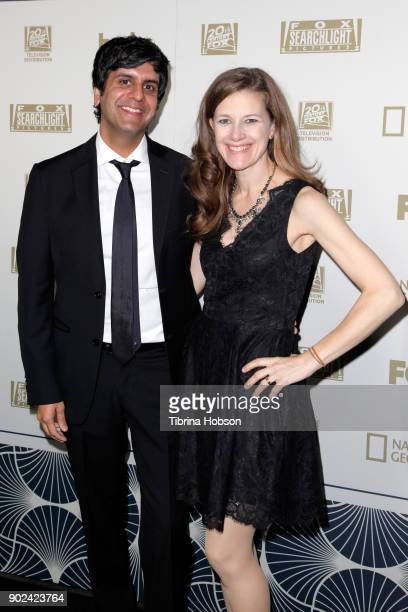 Siddhartha Khosla and Amy Khosla attend FOX FX and Hulu 2018 Golden Globe Awards After Party at The Beverly Hilton Hotel on January 7 2018 in Beverly...