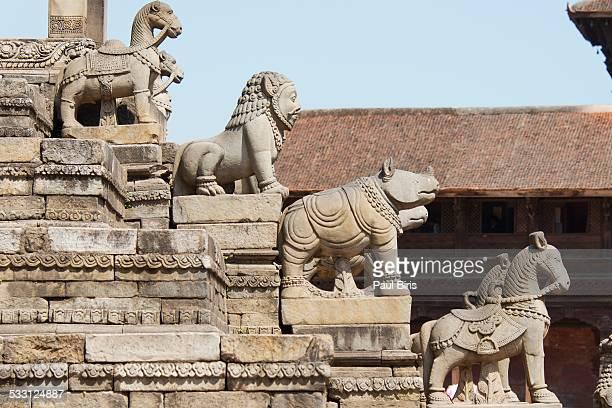siddhi lakshmi temple, bhaktapur durbar square - バクタプル ストックフォトと画像