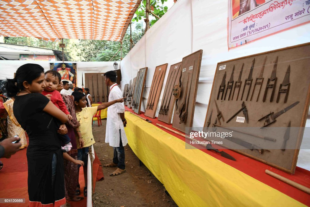Siddhivinayak Vidyarthi Mitra Organises Weapons Displayed From Shivaji Era