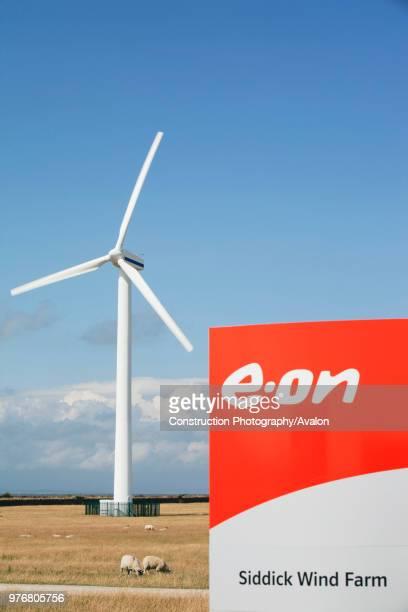 Siddick windfarm on the outskirts of Workington, Cumbria, UK.