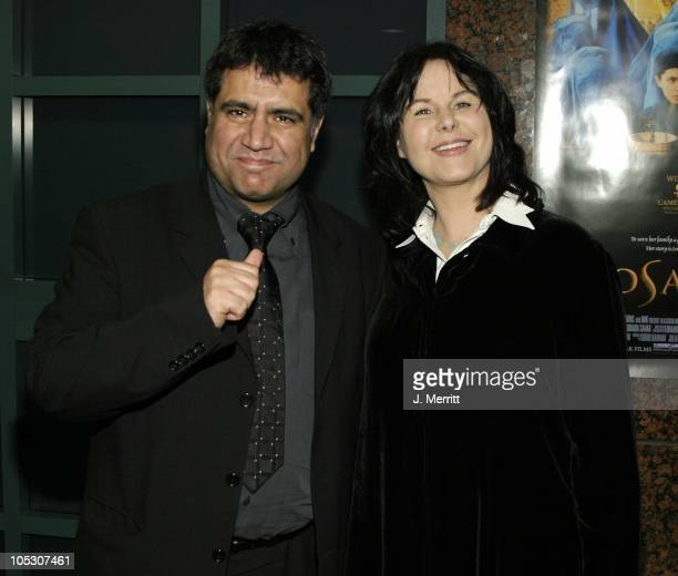 Siddiq Barmak and Mavis Leno during Osama Los Angeles Premiere at Museum Of Tolerance in Beverly Hills California United States