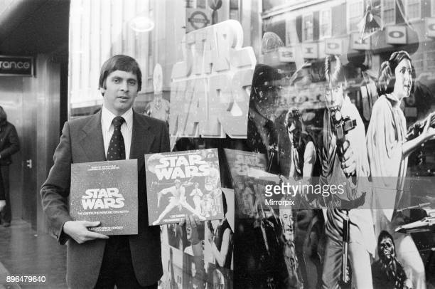 Side by Side Star Wars Vinyl Records on Sale for 65 pence at Woolworth store and °150 at HMV Oxford Street London 31st December 1977 Cut by Damon...
