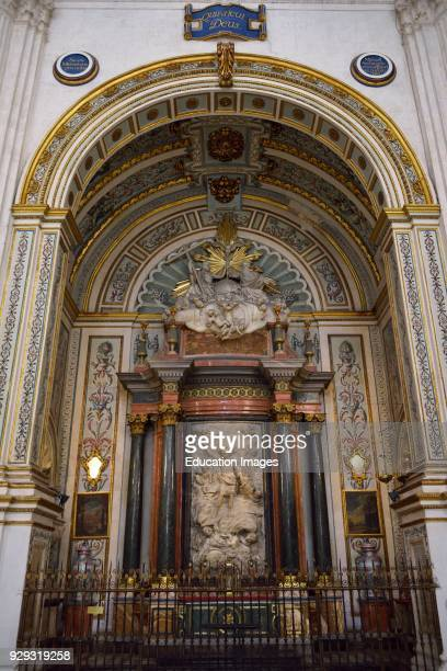 Side Chapel to Archangel Saint Michael in the Granada Cathedral of the Incarnation