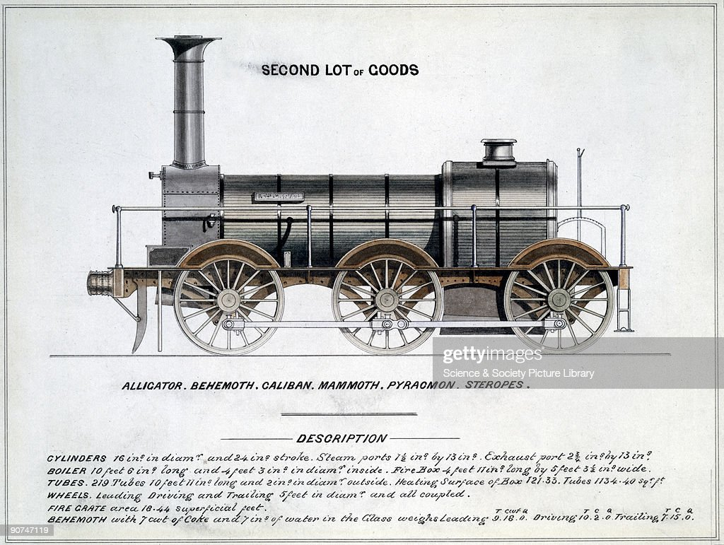 Second Lot of Goods, steam locomotive, 1857. : News Photo