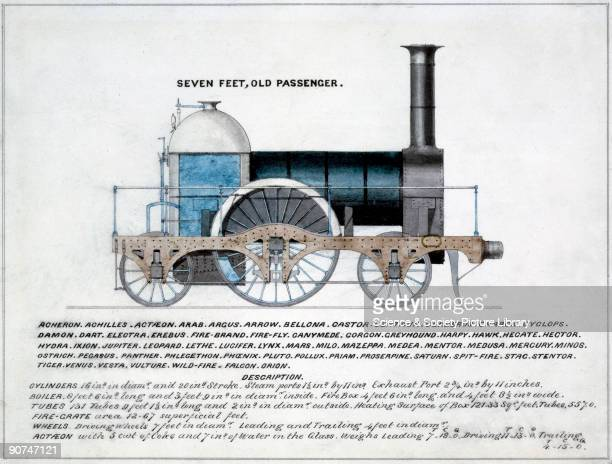Side elevation drawing taken from the book 'Locomotives of the GWR 1857' Beneath the image the names of 60 locomotives built to this specification...