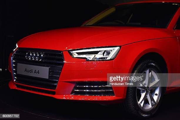 Side front with wheel head light of the all new Audi A4 which launch on September 8 2016 in New Delhi India