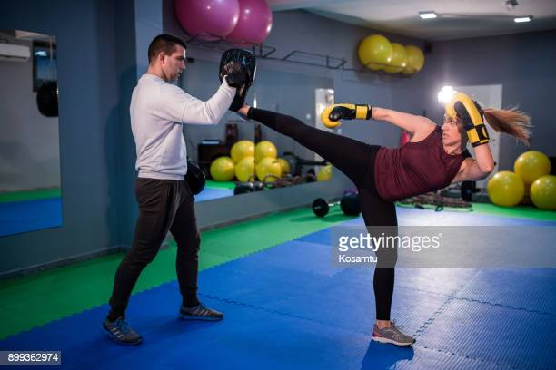 Side Kick Exercise In Boxing