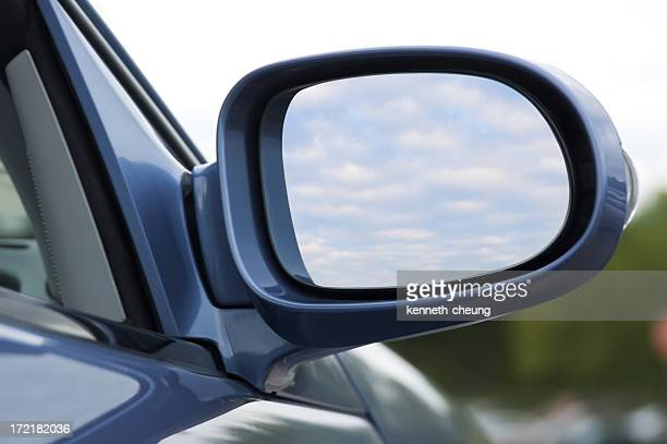 side mirror (w/ clipping path) - side view mirror stock photos and pictures